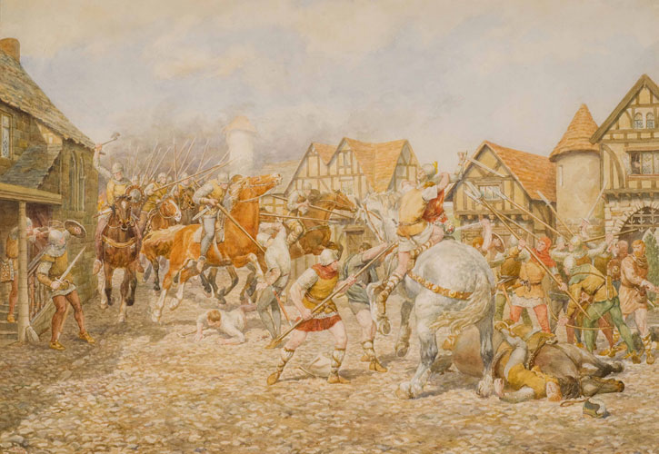 A border raid, (Picts and Scots)